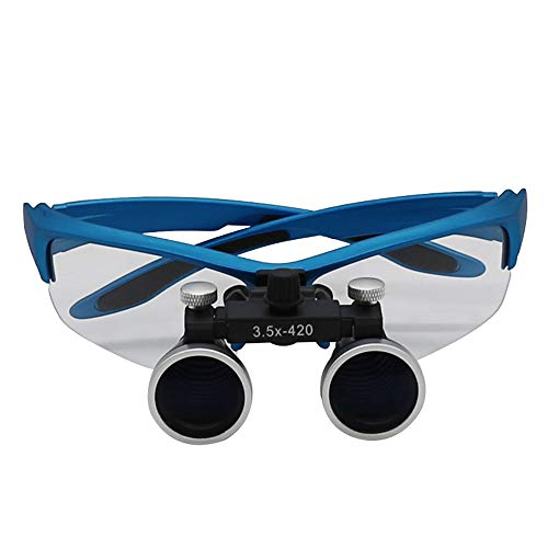 RLH Binokulares medizinisches Vergrößerungsglas Zahnmedizin-chirurgische zahnmedizinische Lupen-Schutzbrillen Protcetive Brillengläser,Blue