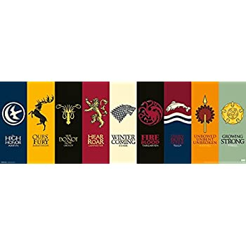 Game of Thrones Poster Sigils (91,5cm x 30cm) + a free surprise poster!