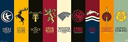 "Póster ""Game of Thrones"" (Juego de Tronos) Sigils (Escudo de Armas) ("