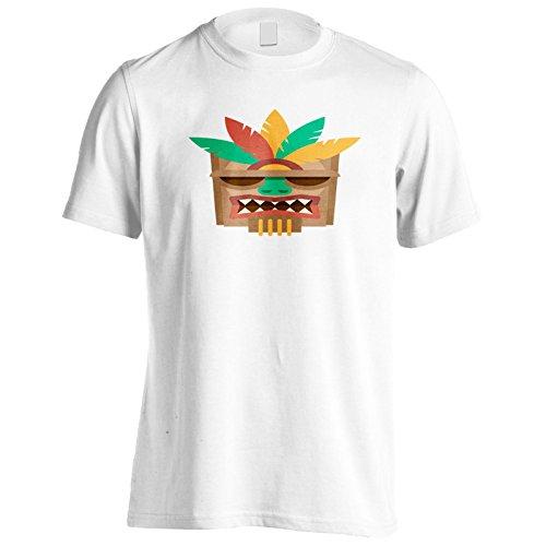 Tiki-Mask-Hawaii-Aloha-Camiseta-de-los-hombres-p785m