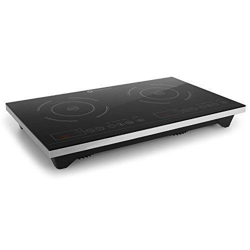 Klarstein VariCook XL plaques de cuisson à induction (taille compacte, ideal couple ou petits foyers, puissance 3100W, temperature réglable 60 - 240°C, minuterie, tactile)