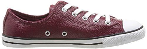 Converse Dainty Leath Ox 289050-52-17 , Sneaker donna Burgundy