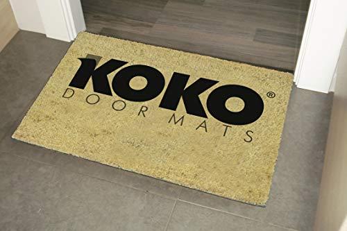 41a4obCZiRL - koko doormats Felpudo de Star Wars para Entrada de Casa Original y Divertido/Fibra Natural de Coco con Base de PVC, 40x60 cm (A-Welcome to my Empire)