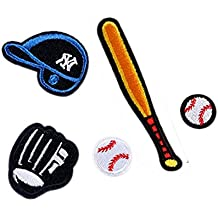 Baloncesto Fútbol voleibol DIY hierro bordado en parches insignia bolsa gorro pantalones Applique DIY Craft baseball
