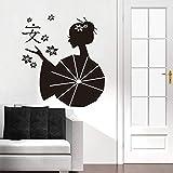 JXYY autocollant asiatique japonaise geisha Zen vinyle sticker papier peint papier...