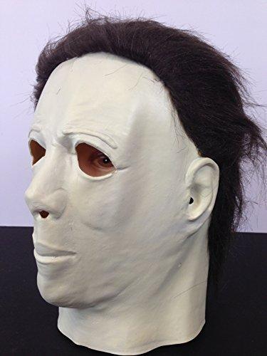 Halloween Horror Maske Latex Ganzer Kopf Film-qualität mit Haaren (Michael Myers Haar)