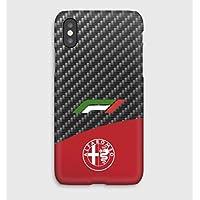 Carbon F1 Alfa Romeo iPhone cas XS, XS Max, XR, X, 8, 8+, 7, 7+, 6S, 6, 6S+, 6+, 5C, 5, 5S, 5SE, 4S, 4,