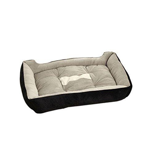 Demino Large Warm Soft Fleece Pet Dog Kennel Medium