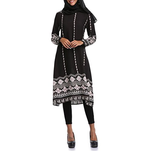Amphia Damen Frauen Muslim Abaya Dubai Muslimische Kleid Kleidung Kleider Arab Arabisch Indien...