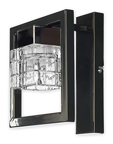 Stilvolle Wandleuchte in Grau Klar/Transparent Bauhausstil 1xE14 bis 60W 230V aus Stahl & Glas...