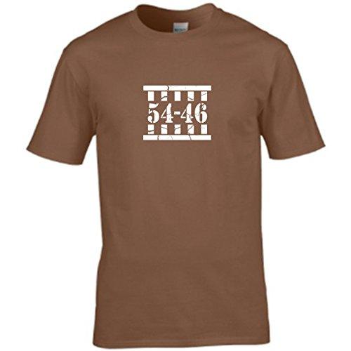 La salita di HOMER - a forma di T-shirt da uomo Marrone