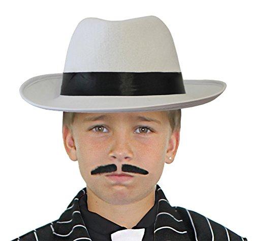 TER HUT MIT EINEM SCHWARZEM BAND== DER HUT HAT DEN DURCHMESSER VON 56cm= VON ILOVEFANCYDRESS® (Kinder Al Capone Kostüm)
