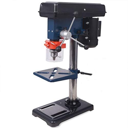 Säulen-Tischbohrmaschine, 500-W-Profi-Tischbohrmaschine für Holz, Metall und Kunststoff mit verstellbarer Arbeitsplatte, 9-stufig einstellbare Geschwindigkeit, neigbar