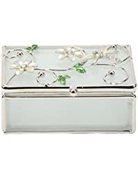 Juliana Cream Dragonfly and Diamante Glass Trinket Box Gift 14398