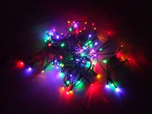 LED Lichterkette 30 Lampen Innen Weihnachtsbeleuchtung bunt Party-Beleuchtung