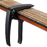 Asmuse Trigger Cejilla Guitarra Electricas Skeleton Capo para Guitarra Española Acustica Folk Ukelele Bajo instrumento Ligero