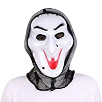IBLUELOVER Halloween Ghost Mask Wizard Cosplay Props Scary Vampire Mask Grimace Skeleton Mask Horror Disguise Final Destination Movie Costume Accessory Mask for Masquerade Carnival Scene Bar