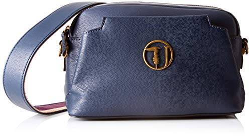 a8dd219cbf Trussardi Jeans Rabarbaro Shoulder Bag, Borsa a Tracolla Donna, Blu (Dark  Blue)