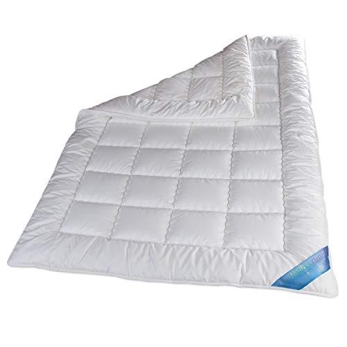 Schlafmond Medicus Clean Allergiker Ganzjahresdecke, Bettdecke aus Baumwolle waschbar bis 95 Grad (155 x 220 cm)