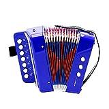Toyvian Accordion Kids Accordion Musical Toy Mini Small Accordion Instrumento Musical Educativo para la enseñanza de la Primera Infancia (Azul)