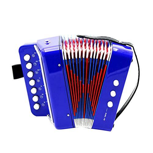 TOYANDONA Akkordeon Kinder Akkordeon Musical Spielzeug Mini Kleines Akkordeon Pädagogisches Musikinstrument für Kind Kind Frühkindliche Lehre (Blau)
