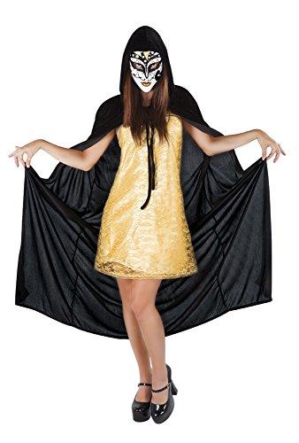 Non riguarda, s8265-accessorio per travestimento, mantello-set di accessori da donna, motivo maschera veneziana