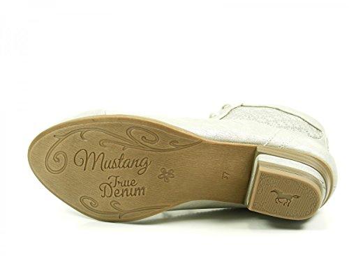 Mustang Damen Stiefeletten Silber (Metallic) Silber