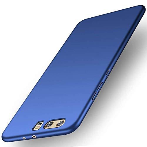 Preisvergleich Produktbild Huawei P10 Hülle Ultra Dünn Schlank Stoßfest,  Anti-Scratch FeinMatt Einfach Handyhülle Abdeckung Stoßstange Hardcase für Huawei P10(2017) Blau