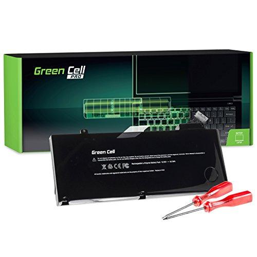 Green Cell Pro Serie A1322 Laptop Akku für Apple MacBook Pro 13 A1278 (Mid 2009, Mid 2010, Early 2011, Late 2011, Mid 2012) - Li-Polymer ATL Zellen 63.5Wh 10.95V Schwarz (Macbook Early 2011 Akku)