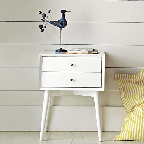 Liza Wood Decor Wooden Bed Side Cabinet in White Finish