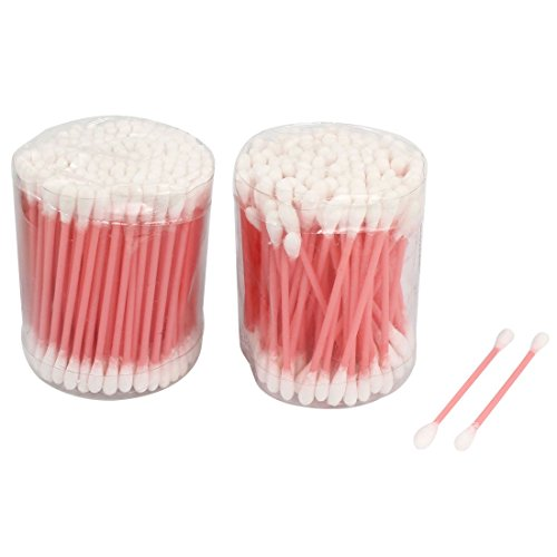 Kosmetische Plastische Rod Einweg Doppel Wattestäbchen Rosa 260 Stück Ended