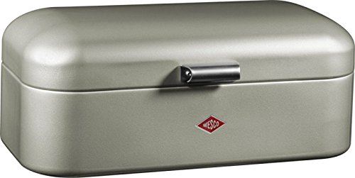 Wesco 235201-03 Brotkasten Grandy, 42 x 23 x 17 cm, neusilber