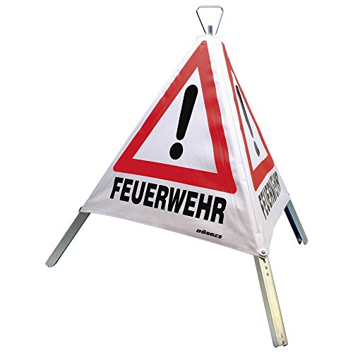 Dönges Faltsignal, Tagesleuchtfarbe, 3 x Feuerwehr, 700 mm, 218100
