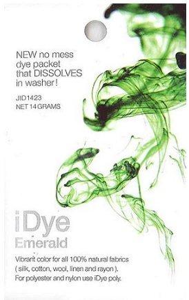 Jacquard iDye Fabric Dye - 100% Natural Fabrics Emerald