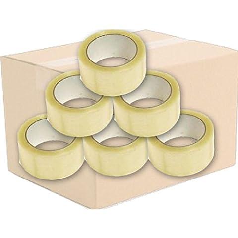 Lot de 12rouleaux de ruban adhésif emballage ruban adhésif d'emballage Transparent 48mm x 50m