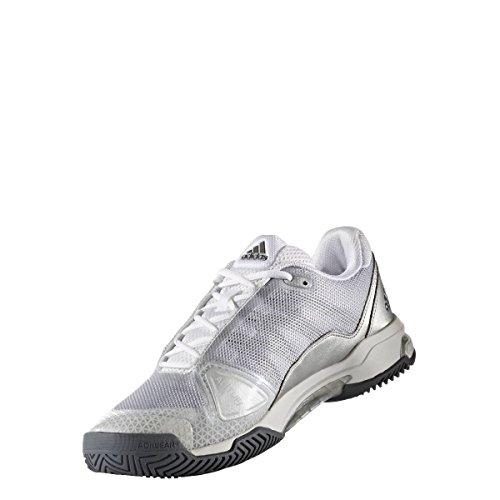 adidas Herren Barricade Club Tennisschuhe metallic/weiss/schwarz