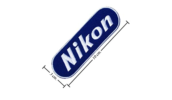 Nikon Camara Logo II Embroidered Iron On Patches From