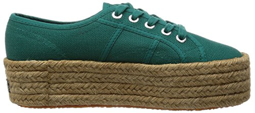 Superga 2790 Cotropew, Baskets Basses femme Vert - Green (Green Teal)