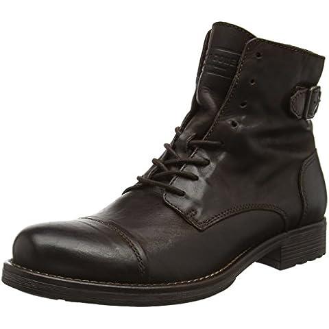 JACK & JONES Jfwsiti Leather Boot, Botas Militar Para Hombre