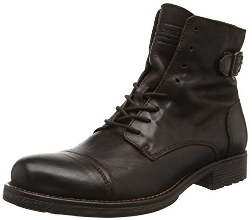 JACK & JONES Herren Jfwsiti Leather Boot Combat, Braun (Brown Stone), 43 EU
