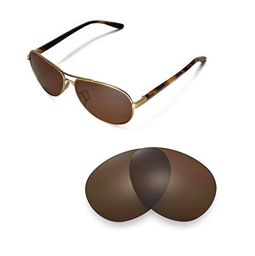 Walleva Ersatzgläser für Oakley Feedback- Mehrfache Optionen (Braun - polarisiert)