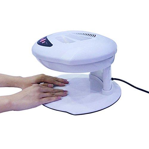 WANGXN Ambos Manos Uñas Ventilador Secador De La Máquina Salón Profesional Infrarrojos Automáticos Sensores Dobles Caliente Y Fresco Aire Brisa para Secar Esmalte De Uñas Acrílico Uñas, White