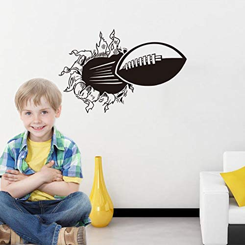 Fußball Gebrochen Super Bowl Wandaufkleber Jungen Teen Raumdekoration Vinyl Art Removable Poster Decals Decor 57X87 cm -