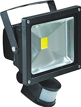 Pik-a-pak L320b 20 W LED PIR Verre étanche IP65 Flood Light, Noir