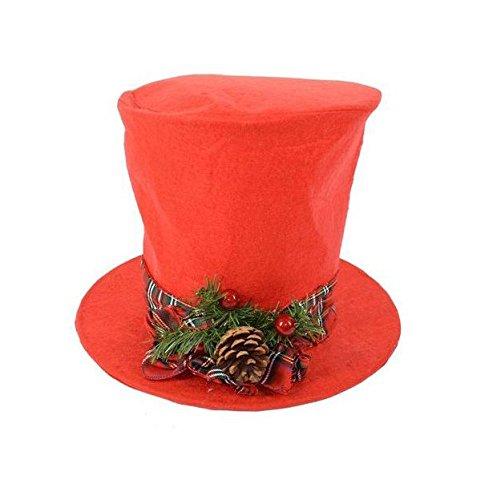 Puntale per Albero di Natale a forma di Cappello a Cilindro ... 538a5ceac4b7