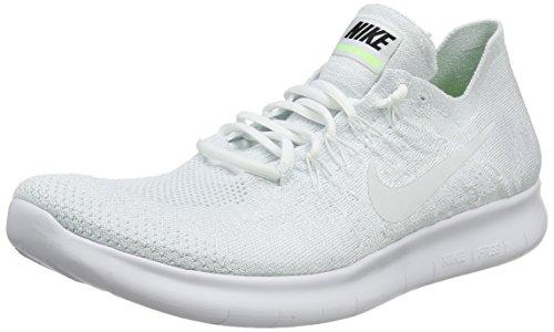 new arrival 13008 63746 Nike Free Rn Flyknit 2017, Zapatillas de Running para Hombre, Blanco (White