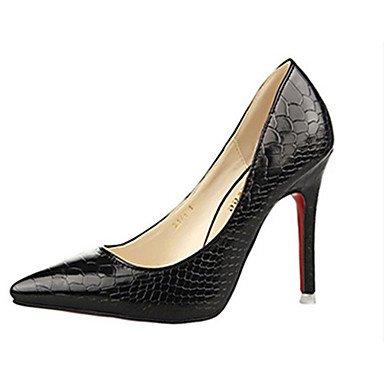 Moda Donna Sandali Sexy donna tacchi tacchi estate pu Casual Stiletto Heel altri nero / blu / viola / rosso / Argento / Mandorla Altri almond