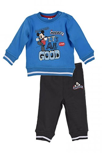 Mickey Mickey Mouse Baby Jungen (0-24 Monate) Sweatanzug Gr. 68, blau