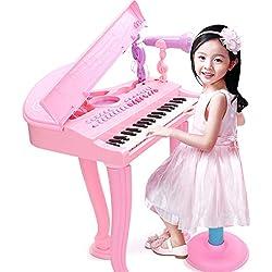 YAHAMA 37 Touches Piano Electrique Enfant avec Micro Clavier Enfant Micro Clavier Micro Jouet Clavier Jouet Musique
