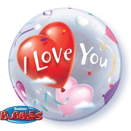 cm I Love You Herzen Single Bubble Ballon 01ct ()